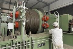 Die eigens für die Wasserhaltung installierte Fördermaschine